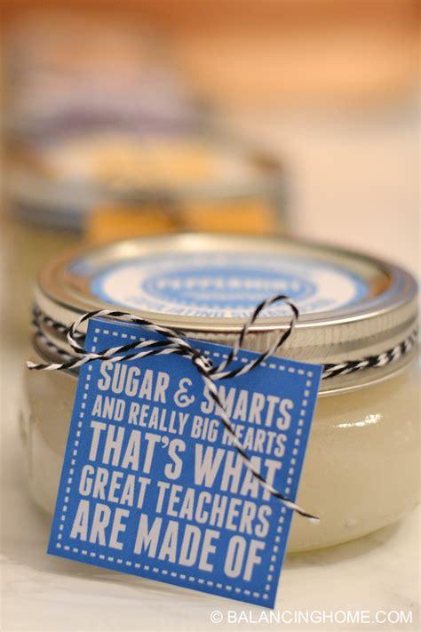 sugar scrub recipes printable labels teacher gift tags