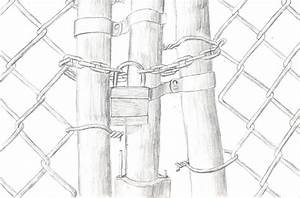 Chain-link Fence Gate by bagnome on DeviantArt