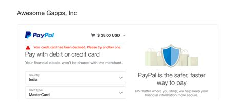 Maybe you would like to learn more about one of these? Your credit card has been declined by PayPal - Documentation - Yet Another Mail Merge Support