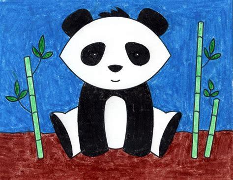 draw  panda bear art projects  kids