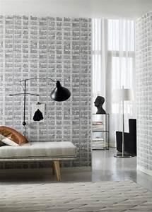 sublimez vos interieurs en mettant un papier peint blanc With carrelage adhesif salle de bain avec led lampe 3d
