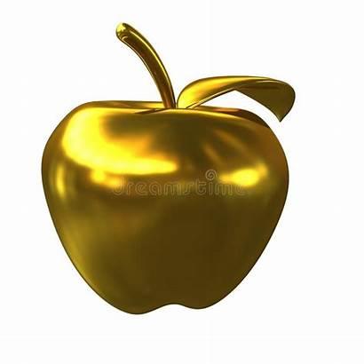 Apple Golden Appel Gouden Witte Achtergrond Isolated
