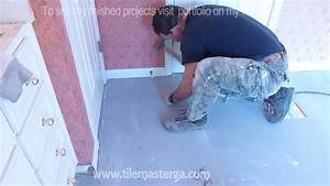 part quot2quot how to install tile backer board on wooden With backer board floor installation