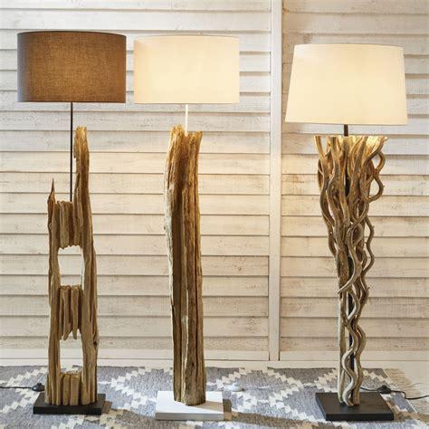 lampadaire en bois   cm alpages maisons du monde