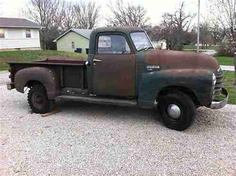 Purchase Used 1950 Chevy 3600 Pickup Truck Old Green