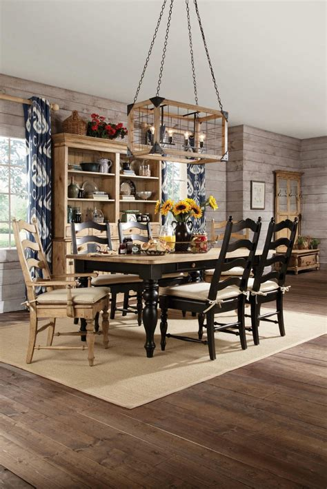 kincaid homecoming solid wood farmhouse leg dining table
