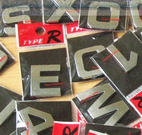Type R Chrome Car Letters  Custom Car Lettering Badges