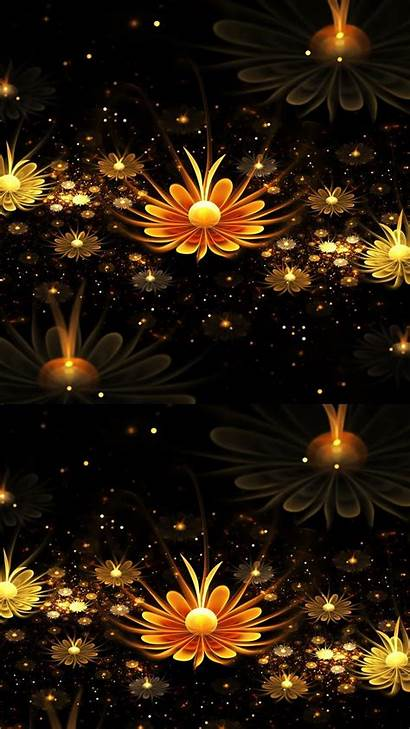 Android 3d Wallpapers Flower Mobile Phone Gold