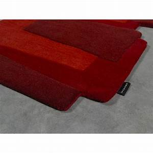 tapis de couloir design pebbles rouge angelo 70x250 With tapis couloir rouge