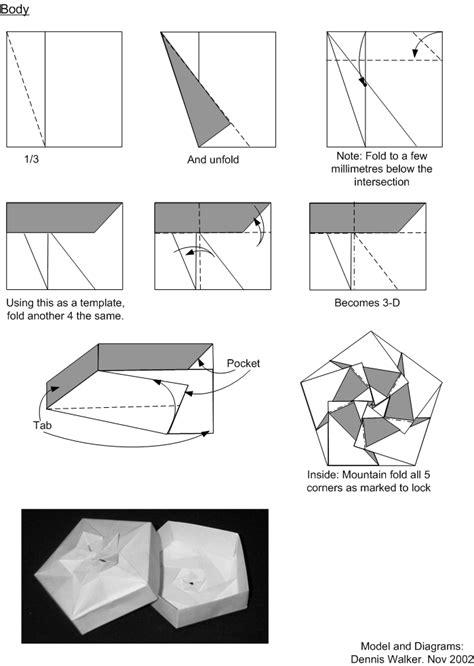Diagrams For Cherry Blossom Modular Origami Box Base