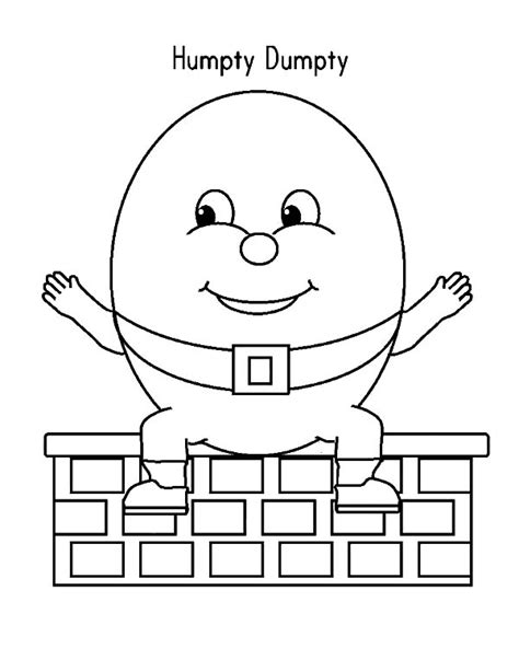 Humpty Dumpty Puzzle Template by Humpty Dumpty Coloring Pages