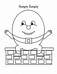 humpty dumpty coloring pages With humpty dumpty puzzle template