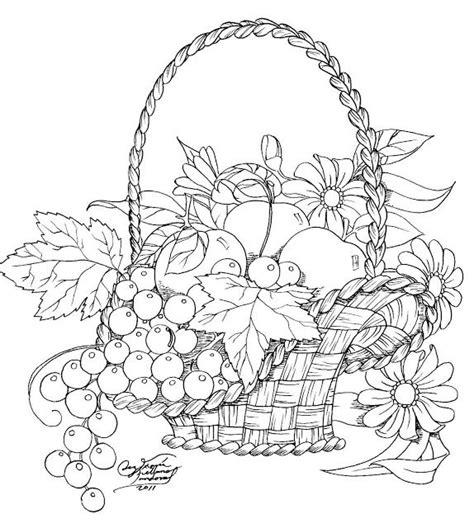 cestos de frutas para colorear imagui colorear dibujos de flores canasta de frutas y