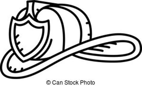 14074 firefighter helmet clipart black and white casque pompier isol 233 illustration fond blanc vecteurs