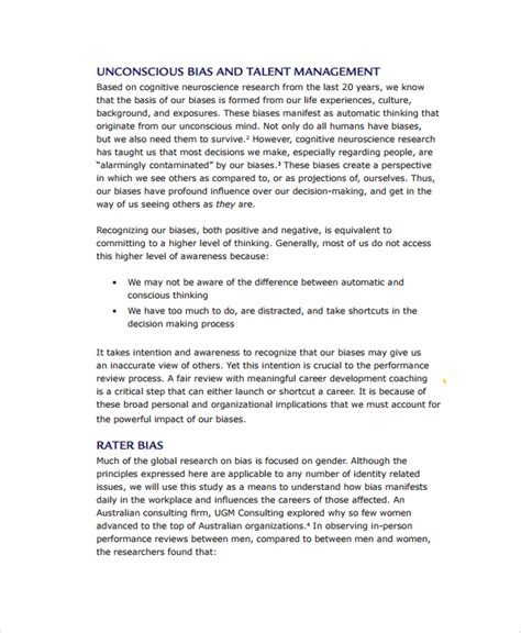 management review template 7 management review templates sle templates