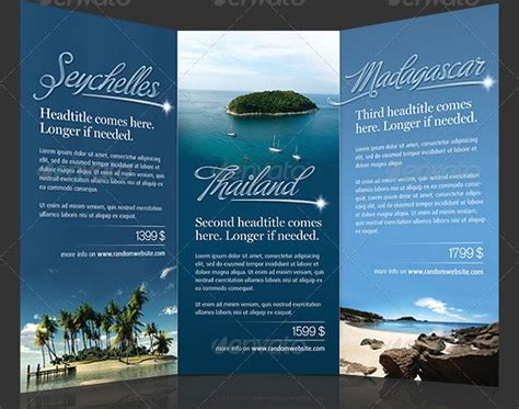 Travel Brochure Template Free by Travel Brochure Template Bbapowers Info