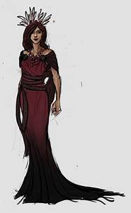Persephone costume sketch in gorgeous red and black - by ...
