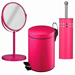 3 piece hot pink bathroom set unique home living With hot pink bathroom sets