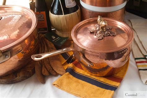 hammered copper cookware   depth review curated cook