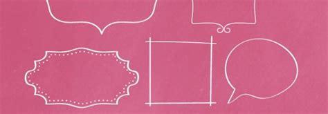 hand drawn frames  clip art