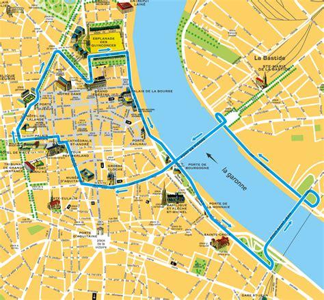 Carte Touristique Du Centre De La by Carte Touristique De Bordeaux 187 Vacances Arts Guides