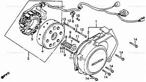 Honda Motorcycle 1986 Oem Parts Diagram For Left Crankcase