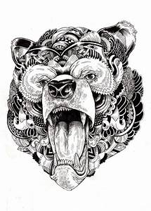 13 Beautiful Tribal Bear Tattoo | Only Tribal