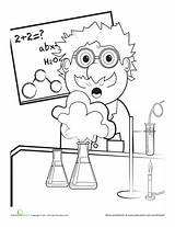 Coloring Science Scientist Mad Lab Scientific Pages Worksheet Worksheets Grade Education Safety Explosion Fair Party Sheets Cartoon Chemistry Preschool Week sketch template