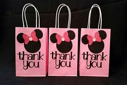 Minnie Mouse Party Bag Favor Thank Birthday