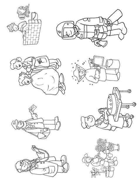 esl occupations color sheet  coloring pages  print