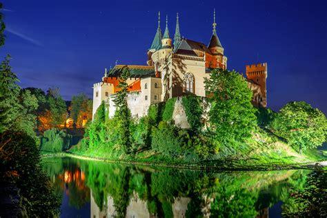 bojnice castle slovakia  blue hour shot  castle
