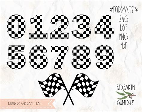 racing numbers  flags checkered numbers race flag  svg  dxf png formats race