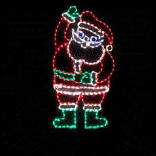 Lighted Christmas Wreaths Outdoor by Lighted Animated Waving Santa