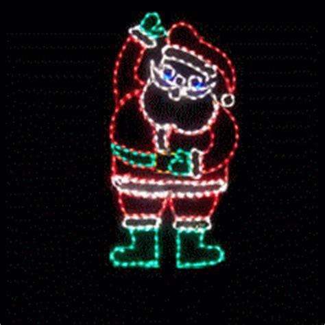 lighted animated waving santa