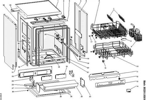 pieces detachees lave vaisselle de dietrich vue 233 clat 233 e et pi 232 ces d 233 tach 233 es indesit lave vaisselle dg6400wf