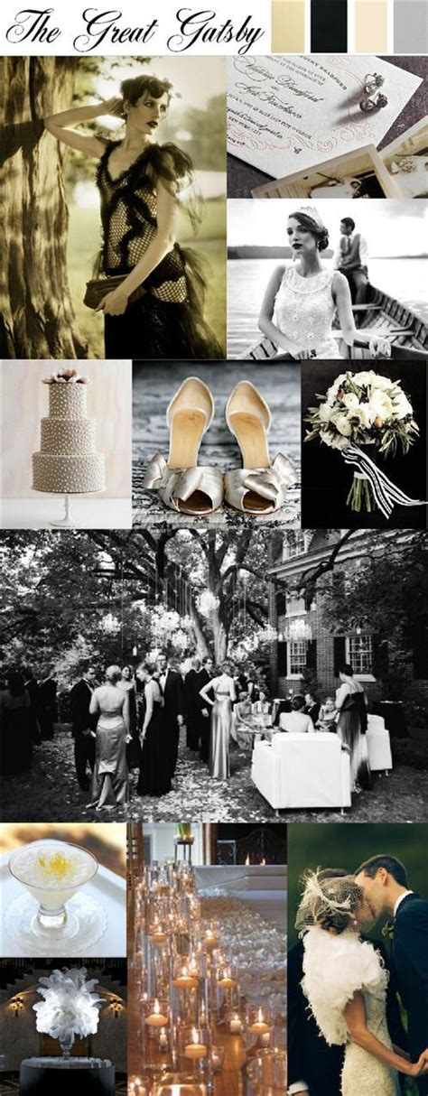 the great gatsby theme party wedding + style inspirations