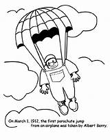Parachute Jump Coloring Pages Crayola Colouring Printable Colored Drawing March Blimp sketch template