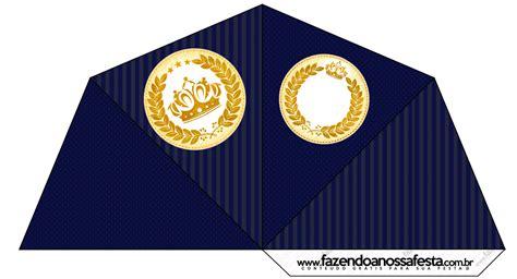 kit festa completo coroa de principe azul marinho 2 132