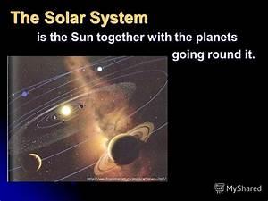 """Презентация на тему: """"Were a part of the Universe. S p a c ..."""