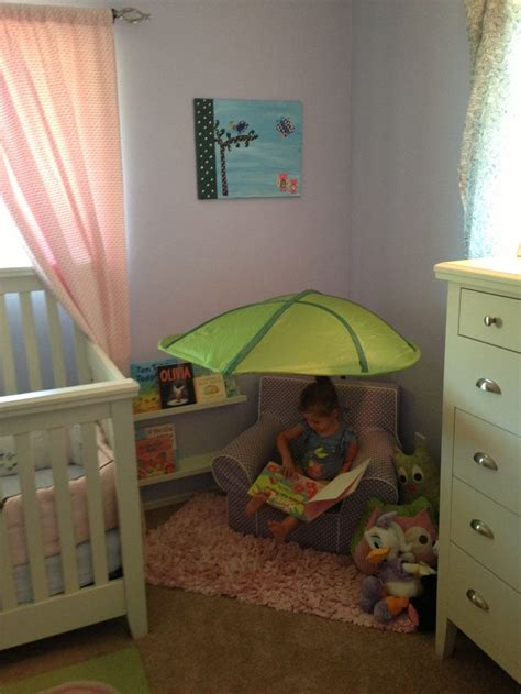 ikea canap駸 reading corner leaf canopy and shelves from ikea playroom