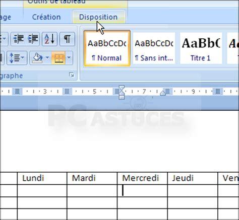 pc de bureau windows 7 pc astuces créer et présenter un tableau