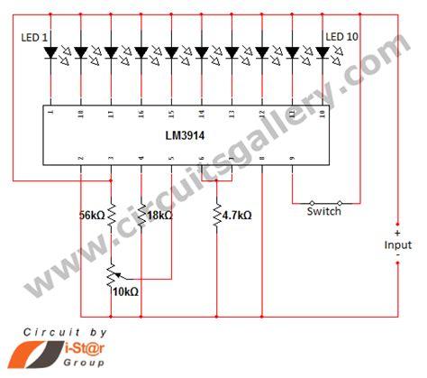 Led Dot Display Based Battery Charge Level Indicator