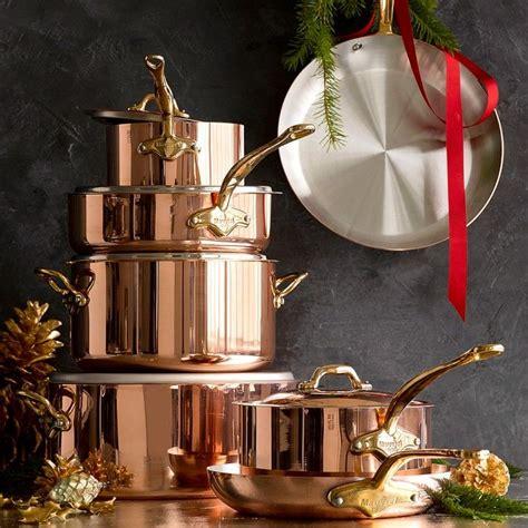 mauviel copper   piece cookware set cookware set copper cookware set copper kitchen