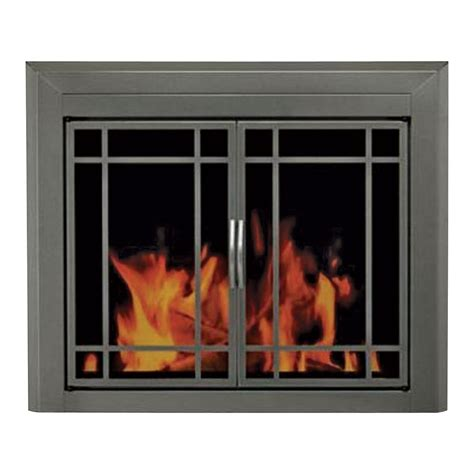 Pleasant Hearth Edinburg Fireplace Glass Door For