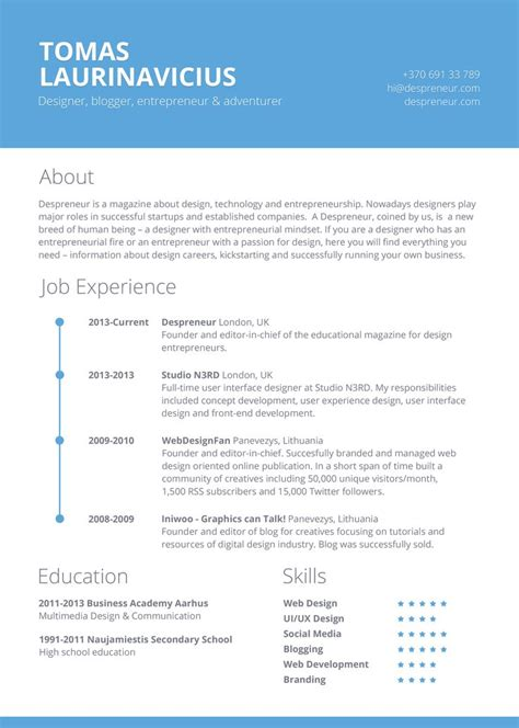 Beste Lebenslauf Vorlage by 134 Best Best Resume Template Images On Resume