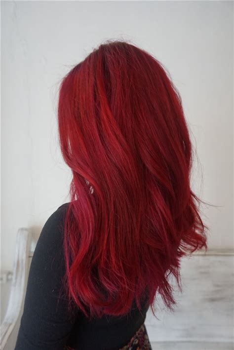 Bright Red Hair Using Pravanna Orchid And Joico Red