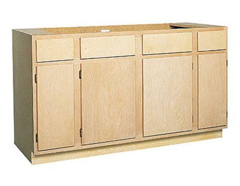 unfinished birch kitchen cabinets zee mfg sb60bh 60 in unfinished birch sink base cabinet at 6609