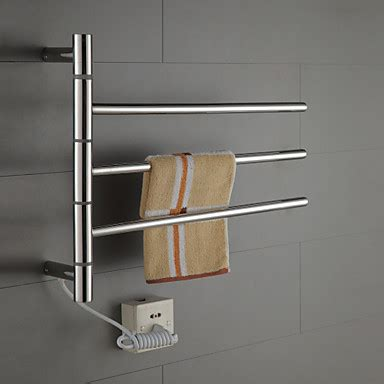 swivel towel warmer  swing arm stainless steel circular