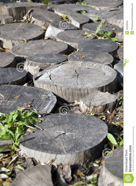Garden Decoration Logs by Fragment Of Garden Decor Of Wood Scraps Logs