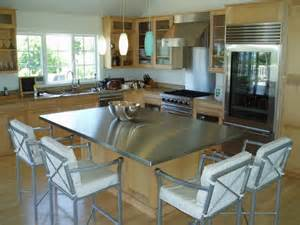 stainless steel topped kitchen islands stainless steel island top custom modern kitchen other metro by custom
